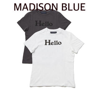 MADISONBLUE - 【MADISON BLUE 】HELLO SHORT SLEEVE TEE/01