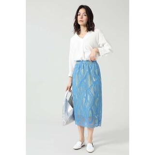 ROSE BUD - クロスラインレーススカート