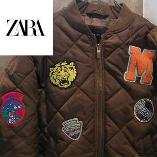 ZARA - 【アメカジワッペン】ZARA ma-1  ブラックアイパッチ ウエステッドユース