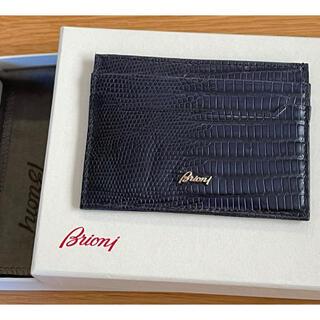 ブリオーニ 最高級 カードケース リザード ネイビー 使用数回 極美品(その他)