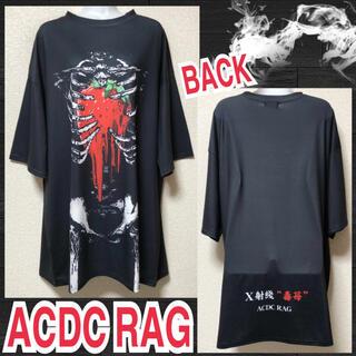 エーシーディーシーラグ(ACDC RAG)の【新品/ACDC RAG】ドロドロ苺スケルトンプリントワンピ(ミニワンピース)