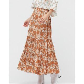 ポールアンドジョー(PAUL & JOE)のユニクロ ポール&ジョー 花柄スカート Sサイズ タグ付新品(ロングスカート)