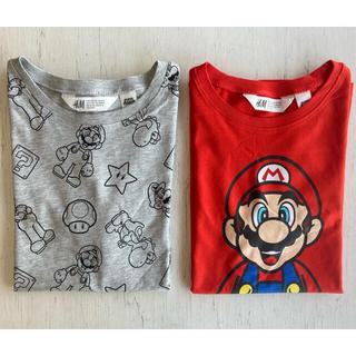 H&M - 《最新作》新品 スーパーマリオTシャツ 2枚セット 134-140