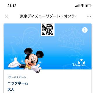 6月5日グッズ購入用ディズニーシーチケット(キャラクターグッズ)