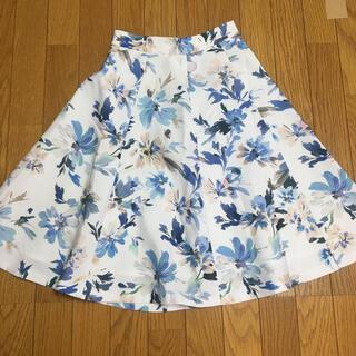 Rirandture - リランドチュール ホワイト花柄 膝たけスカート