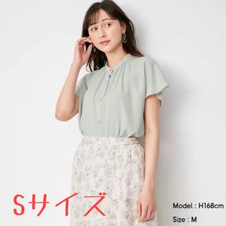 GU - 【新品未使用】GU エアリーバンドカラーシャツ Sサイズ ライトブルー