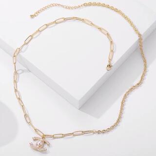 CHANEL - 新品・未使用 ネックレス CHANE シャネル ゴールド ブラック ロゴ