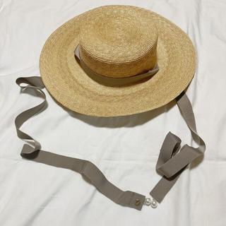 スナイデル(snidel)の限定値下げ【Herlipto】 Straw Braid Canotier(麦わら帽子/ストローハット)