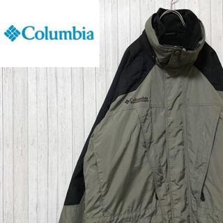 Columbia - コロンビア マウンテンパーカー ナイロンジャケット カーキ インナー付き L