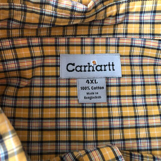 carhartt - カーハート 半袖シャツ メンズ チェックシャツ 4XL