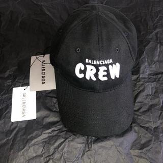 バレンシアガ(Balenciaga)の【新品未使用】BALENCIAGA CREW キャップ ブラック(キャップ)