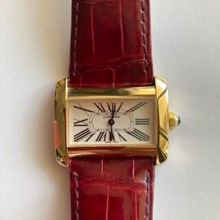 Cartier - Cartier  美品ミニタンクDIVAN  18K YELLOW GOLD