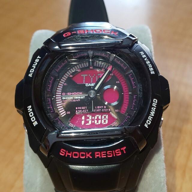 G-SHOCK(ジーショック)のライトニング様専用 G-SHOCK RESIST ブラック×ピンク メンズの時計(腕時計(デジタル))の商品写真
