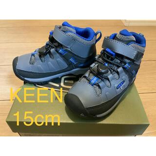 キーン(KEEN)のKEEN キッズ | ターギー ミッド | ハイキングシューズ 15cm 青(登山用品)