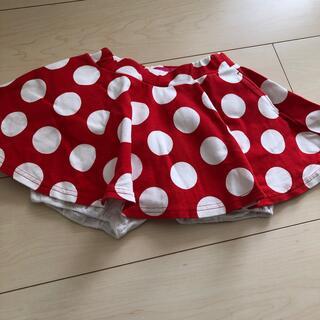 ディズニー(Disney)のミニーちゃんスカート 100センチ(スカート)