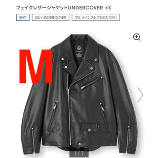 UNDERCOVER - フェイクレザージャケットUNDERCOVER +X BLACK MEN M