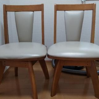ニトリ(ニトリ)のニトリ 回転式ダイニングチェア(リック) 回転椅子 2脚セット(ダイニングチェア)
