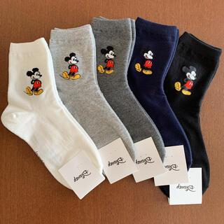 Disney - B ディズニー ミッキー  靴下 レディース