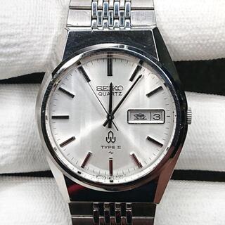 セイコー(SEIKO)のSEIKO TIPE2 メンズ 文字盤シルバー カットガラス ヴィンテージ(腕時計(アナログ))
