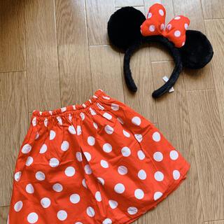 ディズニー(Disney)のミニー★ドットスカート&カチューシャ セット(スカート)
