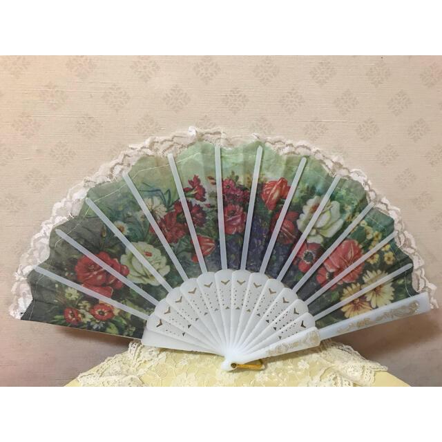 扇子/せんす花柄 レディースの水着/浴衣(和装小物)の商品写真