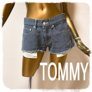 TOMMY HILFIGER - TOMMY ♥ ボーダー ストライプ 切りっぱなし ショーパン
