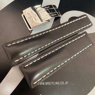 BREITLING - 24mm 442X BREITLING ブライトリング カーフベルト Dバックル