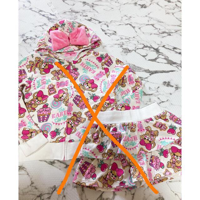 EARTHMAGIC(アースマジック)の24番キャンディーセトア130.120売り切れ キッズ/ベビー/マタニティのキッズ服女の子用(90cm~)(Tシャツ/カットソー)の商品写真