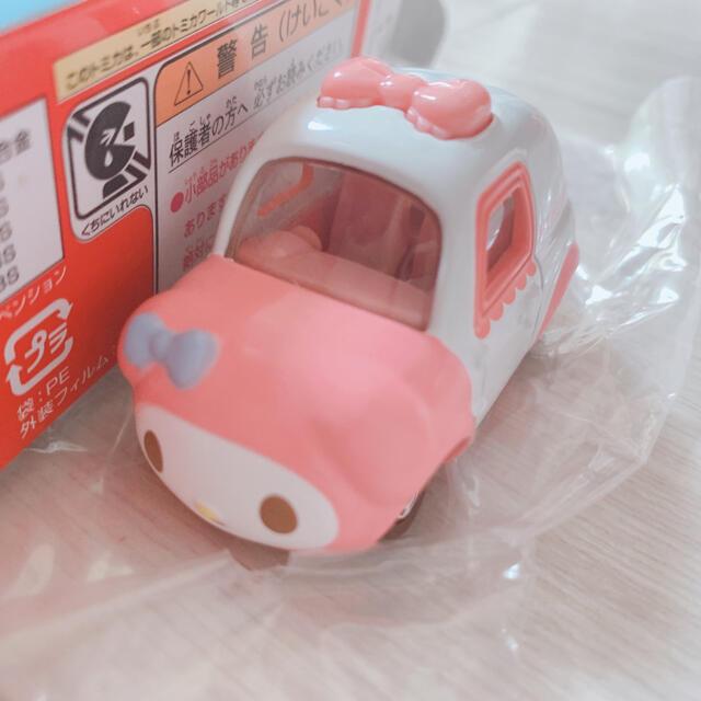 マイメロディ(マイメロディ)のマイメロ ❤︎ トミカ エンタメ/ホビーのおもちゃ/ぬいぐるみ(キャラクターグッズ)の商品写真