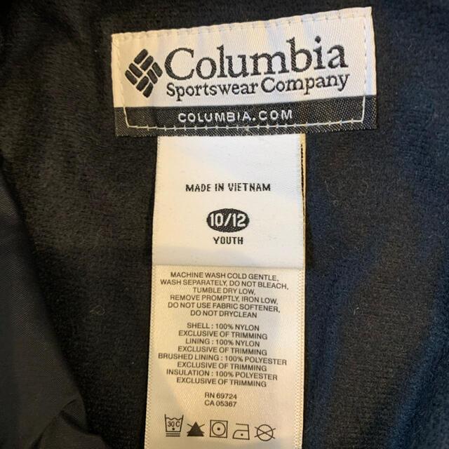 Columbia(コロンビア)の子供用 コロンビア スキーパンツ ブラック サイズ10/12 スポーツ/アウトドアのスキー(ウエア)の商品写真