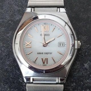 カシオ(CASIO)の美品 正常動作 5気圧防水 電波ソーラー ウェーブセプター LWQ-10(腕時計)