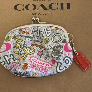 COACH - 【新品・未使用】coach がま口 コインケース 小銭入れ ポピー バタフライ