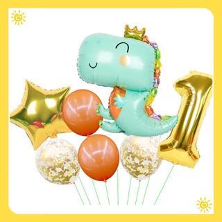 0〜9まで数字が選べる!恐竜 バルーン 風船 誕生日(ウェルカムボード)