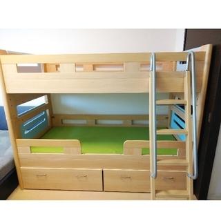 【値下げ!】グランツ Granz 二段ベッド 下部収納付き(ロフトベッド/システムベッド)