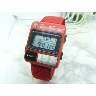 セイコー(SEIKO)の希少! セイコー SEIKO PULSEMETER デジタル ウォッチ(腕時計(デジタル))