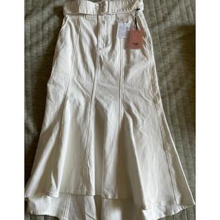 eimy istoire - eimy istoire ベルト付きカラーデニムマーメイドスカート