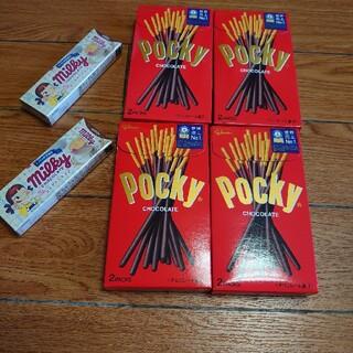 グリコ(グリコ)のグリコポッキー×4箱&不二家ミルキーチョコ×2箱(菓子/デザート)