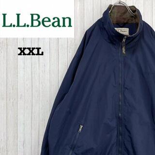 エルエルビーン(L.L.Bean)のエルエルビーン ナイロンジャケット ビッグサイズ ネイビー 刺繍ロゴ XXL(ナイロンジャケット)