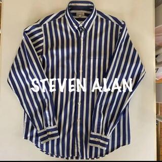 スティーブンアラン(steven alan)のsteven alan スティーブン アラン 長袖 シャツ M  ストライプ 青(シャツ)