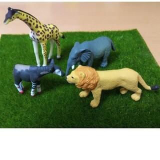 ミニチュア フィギュア コレクション キリン 象 ライオン オカピ 動物シリーズ