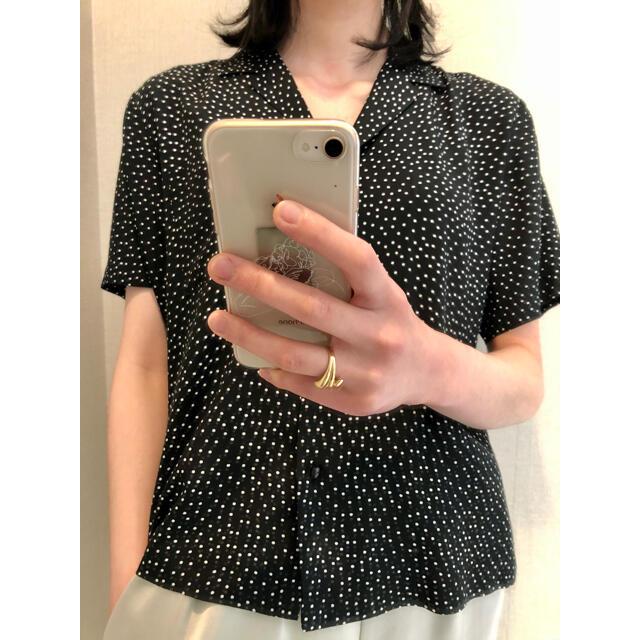 PHEENY(フィーニー)のpheeny フィーニー ドット オープンカラーシャツ レディースのトップス(シャツ/ブラウス(半袖/袖なし))の商品写真
