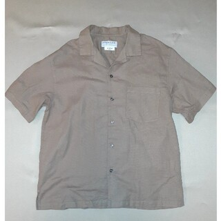 チャオパニックティピー(CIAOPANIC TYPY)のチャオパニック オープンカラー 半袖シャツ 綿麻(シャツ)