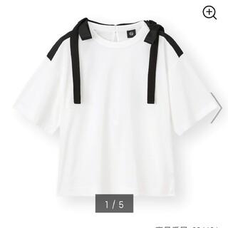 アンダーカバー(UNDERCOVER)のGU×UNDERCOVER リボンデザインTシャツ Lサイズ 新品(Tシャツ(半袖/袖なし))
