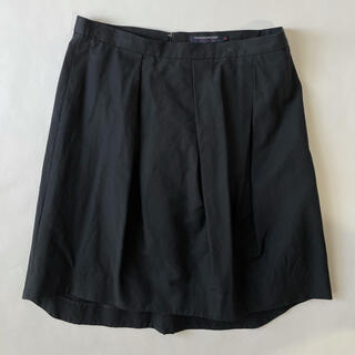 トゥモローランド(TOMORROWLAND)の【トゥモローランド】  シルク30% ブラックミニスカート(ミニスカート)