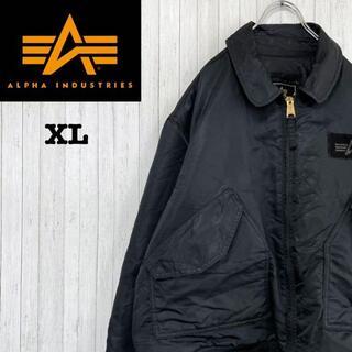 ALPHA INDUSTRIES - アルファインダストリーズ ミリタリー フライトジャケット 黒 ビッグサイズ XL