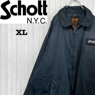 ショット SCHOTT セキュリティージャケット ビッグサイズ ネイビー XL