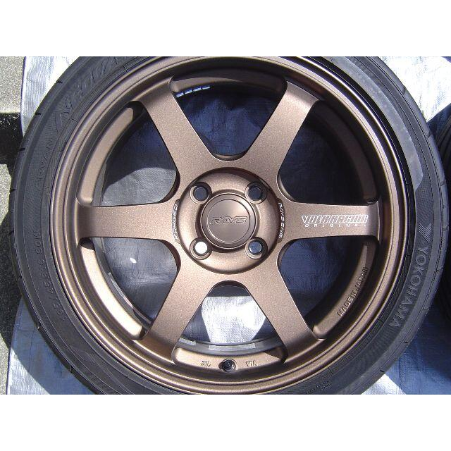 【リペア品含】TE37 SONIC ブロンズ 前15/後16インチ(s660) 自動車/バイクの自動車(タイヤ・ホイールセット)の商品写真