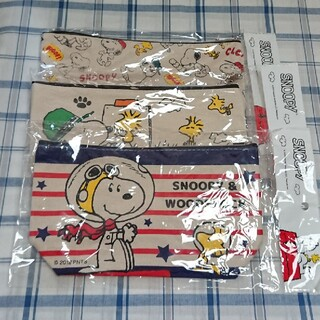 SNOOPY - 《スヌーピー♥️SNOOPY》✨帆布 スクエア ポーチ✨3点セット