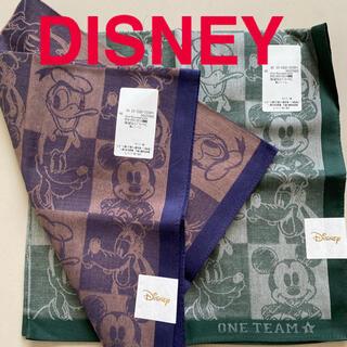 ディズニー(Disney)のDISNEY ディズニー ハンカチ 未使用 二枚 綿 ミッキー ドナルド(ハンカチ/ポケットチーフ)