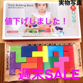 知育玩具 KATAMINO カタミノ 箱付き モンテッソーリ 教育 木製 パズル